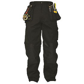 "DeWalt Multi-Pocket Black Work Trousers 34"" W 33"" L"