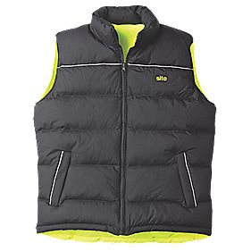 "Site Reversible Hi-Vis Body Warmer Yellow / Black X Large 56½"" Chest"