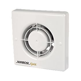 Manrose Gold Long Life Axial 20W Bathroom Extractor Fan with Timer