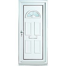 Kingsbury Fan-Light Front Door RH uPVC RH 920 x 2085mm
