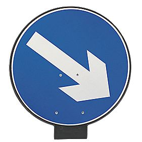 JSP Portacone Arrow Right Cone Sign