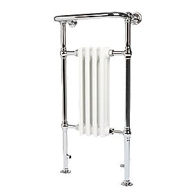 Victorian 4-Section Bathroom Radiator Chrome 952 x 479mm 323W 1102Btu