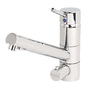 Brita Sano WD 3010 Sink-Mounted Mono Mixer Kitchen Filter Tap Chrome