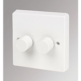 Crabtree 2-Gang 400W Moulded Dimmer Switch