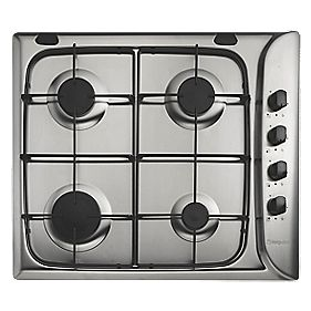 Hotpoint G640SX Gas Hob Stainless Steel 510 x 580mm