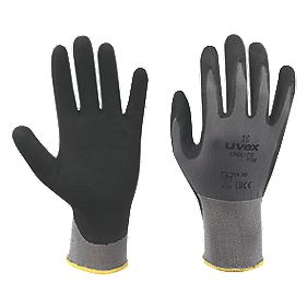 Uvex Unilite Unilite PU Palm Gloves Grey/Black Large
