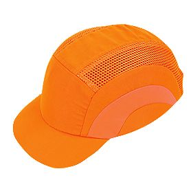 JSP Hardcap Hi-Vis Adjustable Bump Cap Orange