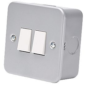 2-Gang 2-Way Switch Metal-Clad