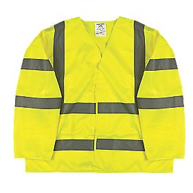 "Hi-Vis Class 3 Waistcoat Yellow Small / Medium 47"" Chest"