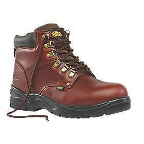 Site Stone Safety Boots Chestnut Size 7