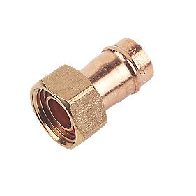 "Straight Tap Connector 15mm x ½"" Pack of 5"