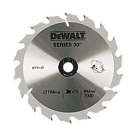 DeWalt 184x16mm 18T TCT Circular Saw Blade