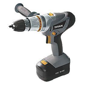 Titan TTE273COM 18V Ni-Cd Cordless Combi Drill