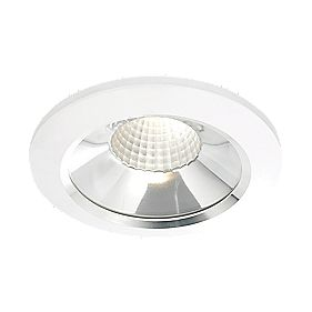 Fixed COB LED Downlight Matt White & Aluminium 10W 240V