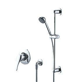 Swirl Manual Mixer Shower Fixed Built-In/Exposed Chrome Effect