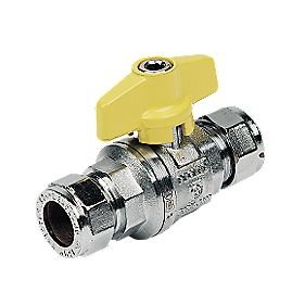 Pegler T Ball Valve 15mm Yellow