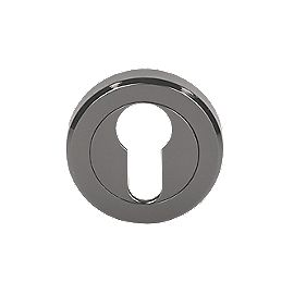 Serozzetta Euro Escutcheon Black Nickel 50mm