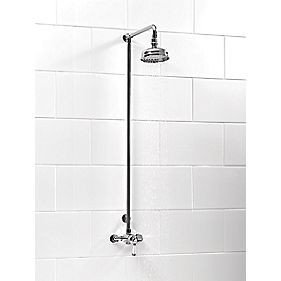 Swirl Traditional Manual Mixer Shower Fixed Exposed Chrome