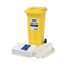 Lubetech 120Ltr Black & White Oil Spill Response Kit