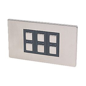 3-Gang 1-Way Dimmer Switch Stainless Steel 210W