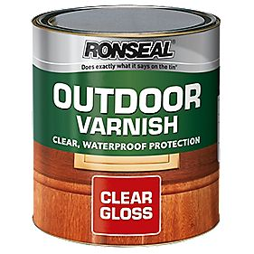 B and Q Outdoor Varnish Gloss Clear 750ml