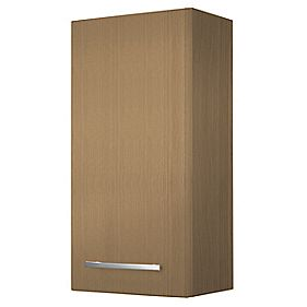 Single Bathroom Wall Unit Oak Effect 300mm