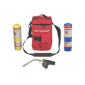 Rothenberger Hot Bag with Super Fire, Propane & Map Pro Gas