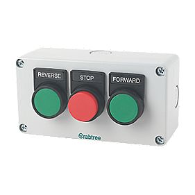 Crabtree 3-Way Forward, Reverse & Stop Push Button
