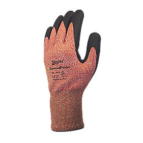 Skytec Gamma 3 Nitrile Foam Palm Gloves Amber Large