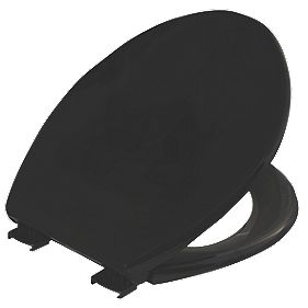 Celmac Diamond Toilet Seat Polypropylene Black