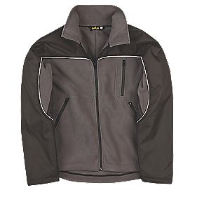 Site Fleece Jacket Black Grey Medium