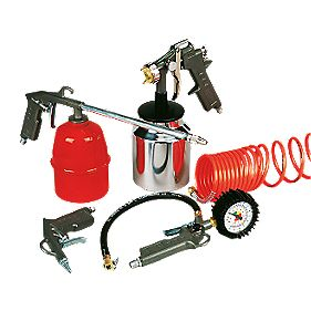 Air Spray Gun & Compressor Kit 5 Pieces