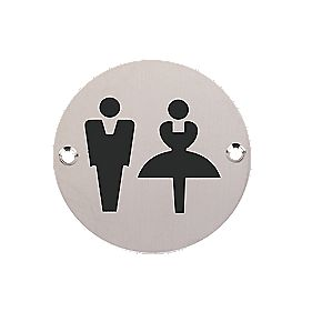 Unisex WC Sign 76mm