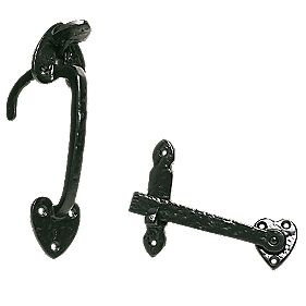 Antique Suffolk Latch Black x mm