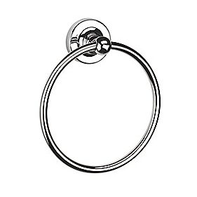 Croydex Flexi-Fix Worcester Towel Ring Chrome 156 x 56 x 175mm