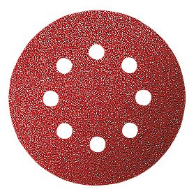 Bosch Assorted Sanding Discs Punched 125mm 60 / 120 / 240 Grit Pack of 6