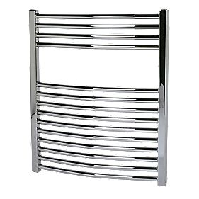 Kudox Curved Towel Radiator Chrome 600 x 700mm 255W 870Btu