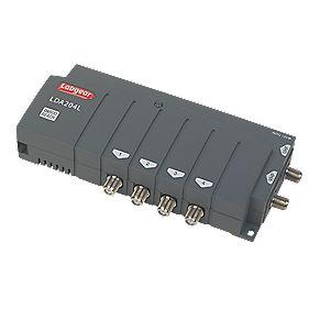 Labgear LDA204L/S 4-Way VHF / UHF Aerial Amplifier 2 Inputs 4 Outputs