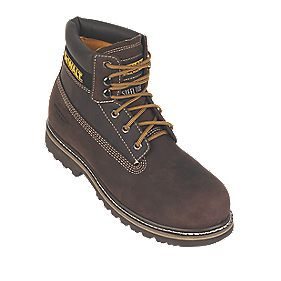 B and Q Work Safety Boots Brown Size 8