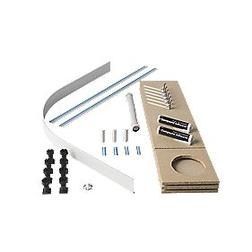 Universal Quad Easy Plumb Kit White