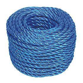 Stranded Polypropylene Rope Blue 8mm x 30m