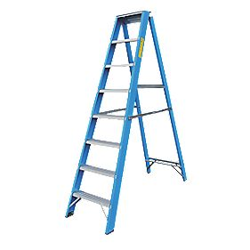 Lyte SFGSL8 Swingback Step Ladder Aluminium & Fibreglass 8-Tread 1.93m