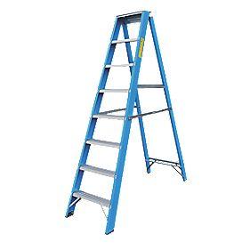 Lyte SFGSL8 Swingback Step Ladder Aluminium & Fibreglass 8-Tread 1.93m