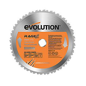 Evolution Rage Multipurpose Saw Blade 255mm