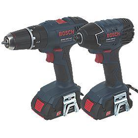Bosch GSB 18-2-Li/GDR 18V-LiN 18V 1.3Ah Li-Ion Combi Drill & Impact Driver
