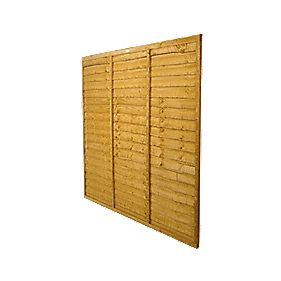 Forest Larchlap Traditional Overlap Fence Panels 1.8 x 1.8m Pack of 9