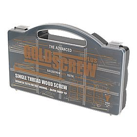 Goldscrew Plus Woodscrews Handy Pack Double-Self-Countersunk Pack of 500