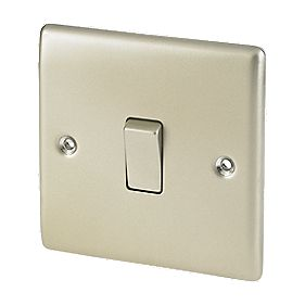 British General 10AX Intermediate Light Switch Pearl Nickel