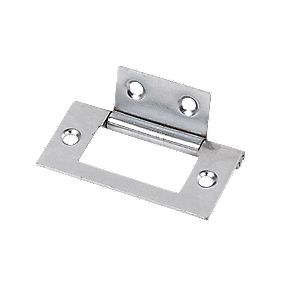 Flush Hinge Polished Chrome 25 x 51mm