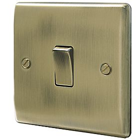 British General 10AX Intermediate Light Switch Antique Brass